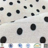 Minky Dot Print Super Soft Velboa/Velour Fabric Minky Fabric for Baby Blanket