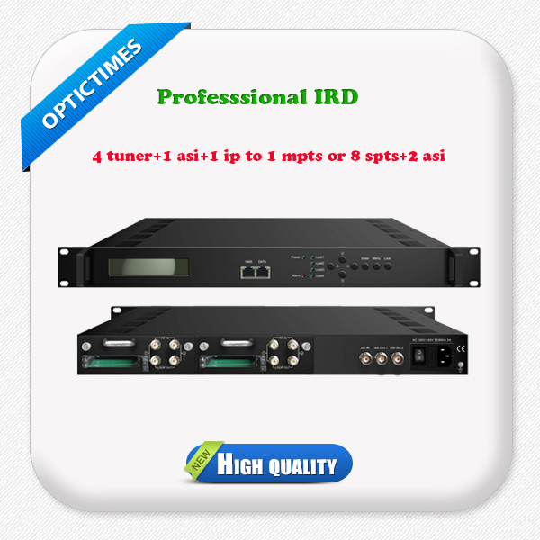 IPTV system dvb-s2 to ip hd ird receiver for encrypted channels programs from the satellite
