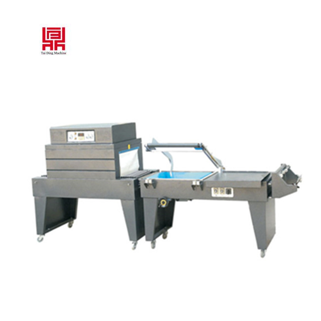 china supplier pof /pvc film heat sealing and cutting shrink sleeve machine for CD/DVD/books