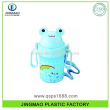 Plastic Children Water Bottle - Frog shape bulk picture water bottles