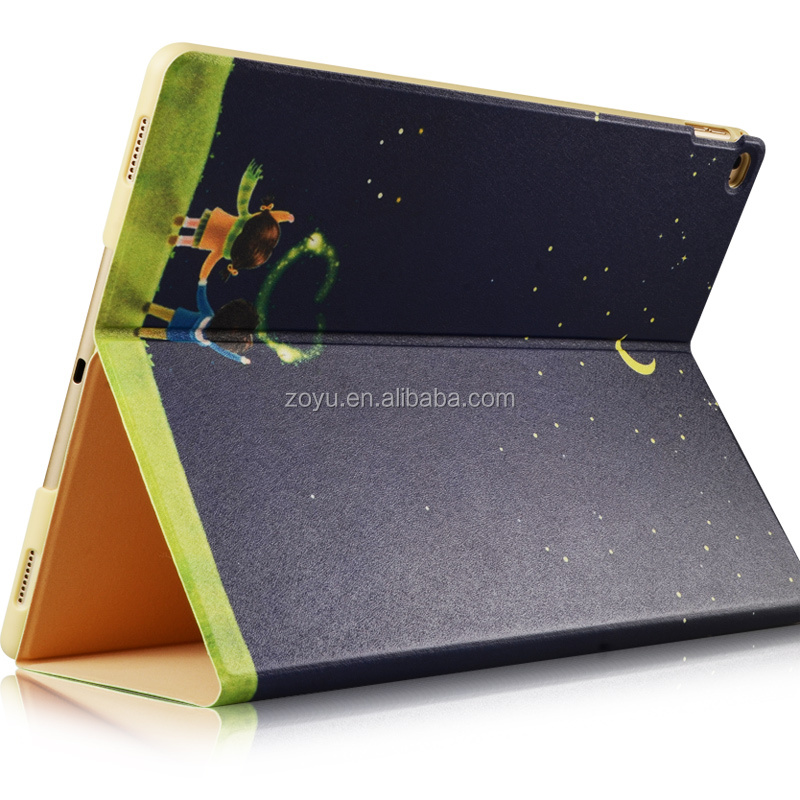 Book style leather amazon fire tablet case for ipad pro 12.9case