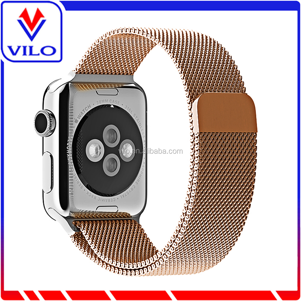 Milanese Loop Stainless Steel Mesh Replacement Wrist Strap with Metal Connectors for Apple Watch 42mm Edition