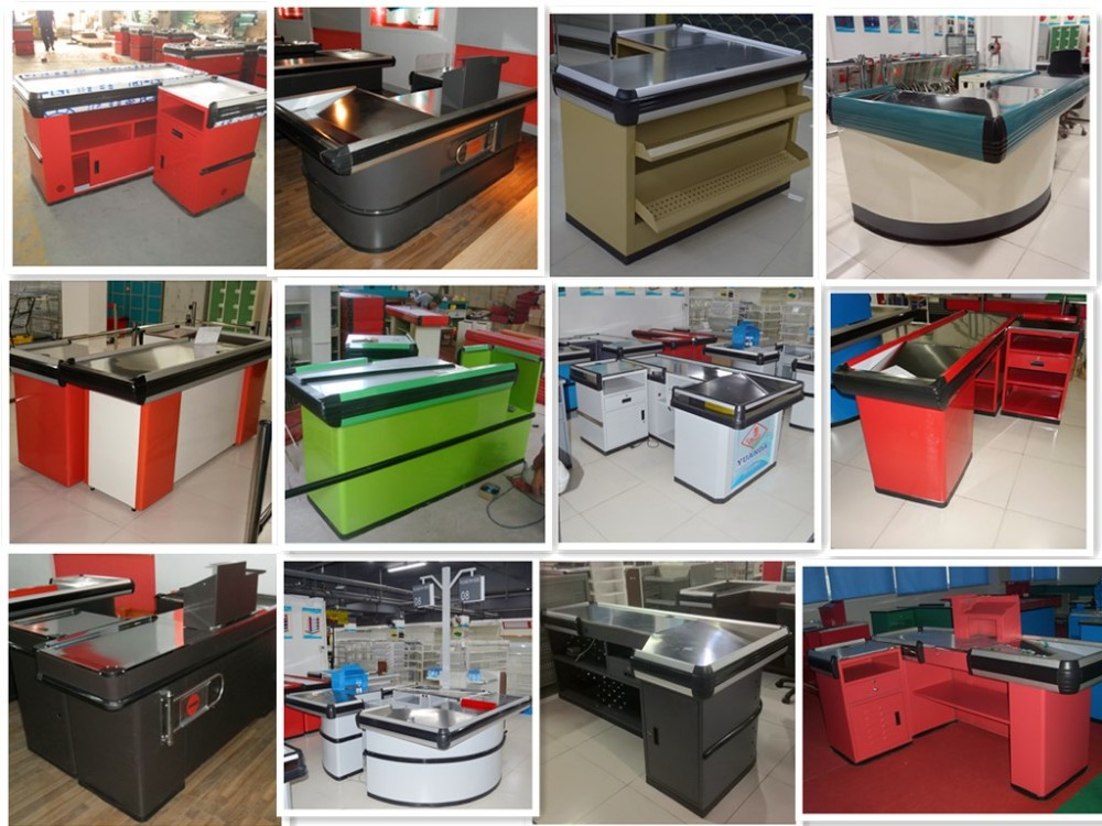 Cash Counter Table Design Retail Checkout Counters Modern