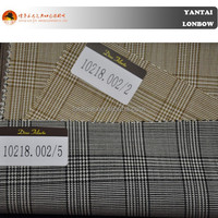 Fashion check 100% boiled wool merino super110's jacket spring men suit worsted fabric