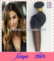 New Arrivals AAAAA Noble #1b/#30 rolling curl two tone peruvian virgin hair weft