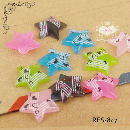 Mixed Color Stars Flatback Resin Kawaii Embellishment Scrapbooking