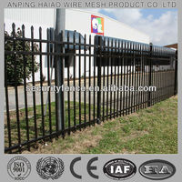 Professional direct supplier best quality galvanized steel picket fence (ISO & CE factory)