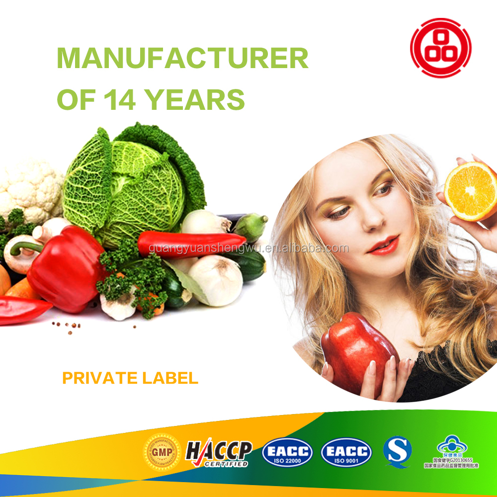 Factory direct private label fruits & vegetables enzyme beauty product