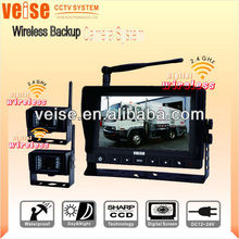 7 inch TFT Monitor DIGITAL Wireless Car Rearview Camera System with 2.4GHz digital signal for snow cleaning