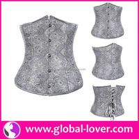 2016 latest arrival gray under bust adult open hot sexy corset xxl movie