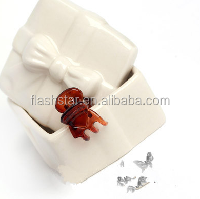 Small cute mini hair clip, wholesale colorful baby plastic small claw hair clip