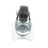 small black rubber wheel caster 1 inch castor wheel