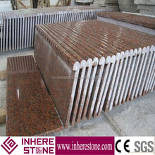 g562 granite step, maple red tread, laminate bullnose stairs
