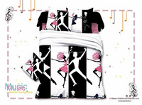 king size music design wholesale 3D bedding set for wedding