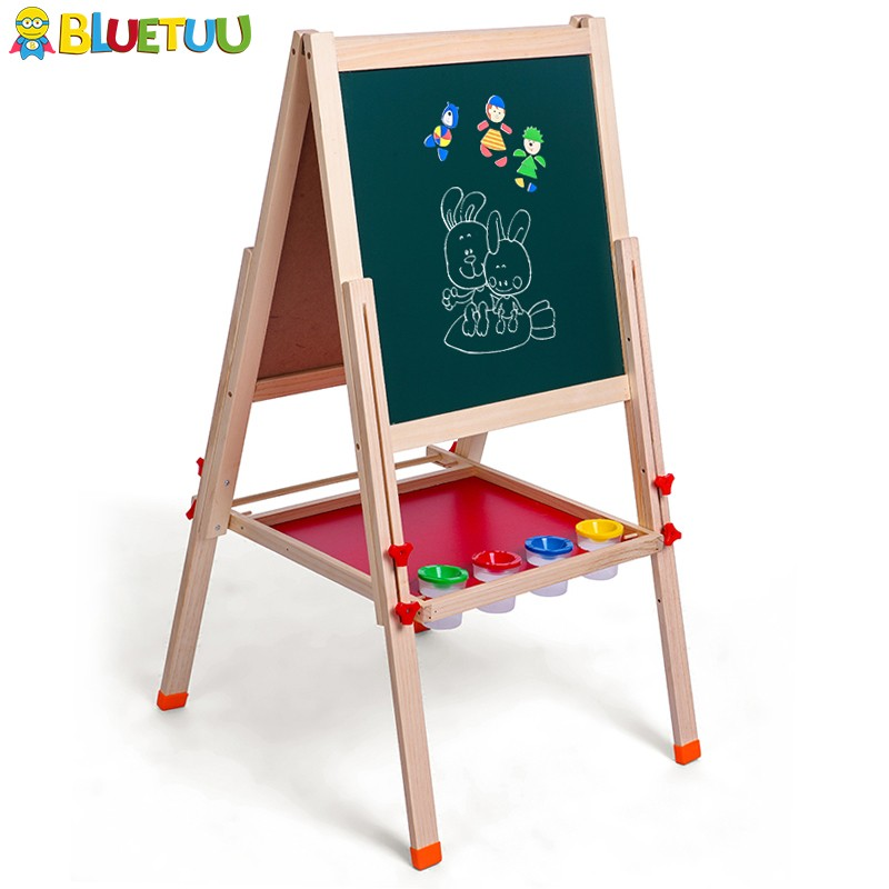 Magnet child mini blackboard wooden double-sided easel with sketch stand