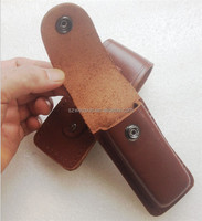 12*4*2cm knife cutter sheath cow leather scabbard holster highgrade professional gift pocket tool outdoor camp hike army
