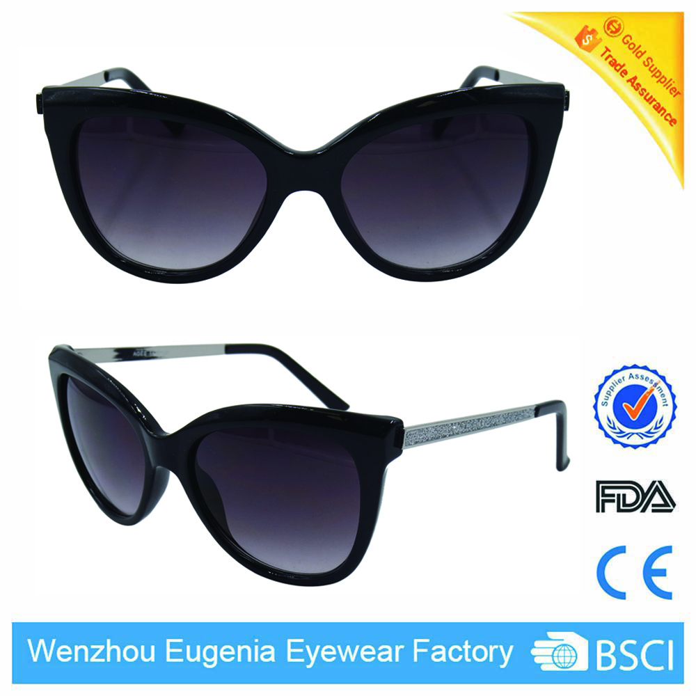 low price high quality italy brand design shine black sunglasses
