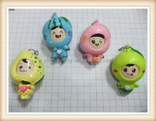 plastic change face mini fruit & vegetables dolls