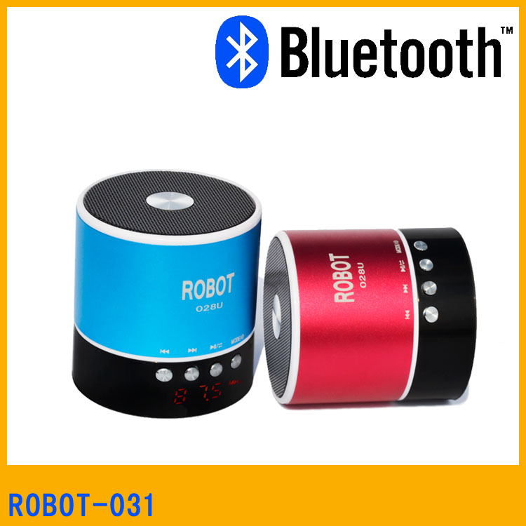 Robot-031u Good Quality Compatible Micro SD/TF Mini Bluetooth Speaker,Round Bluetooth Speaker