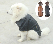 Pet Clothing Larger Dog clothes Blank Leather Jacket Winter Coat For Big Dogs