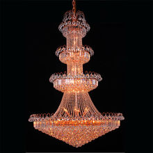 New designer empire luxury big hotel hall decoration rose gold chandelier lamp