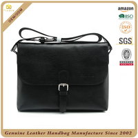 Guangzhou factory 100% cowhide leather men crossbody bag men business bag custom crossover bag leather men with certificates