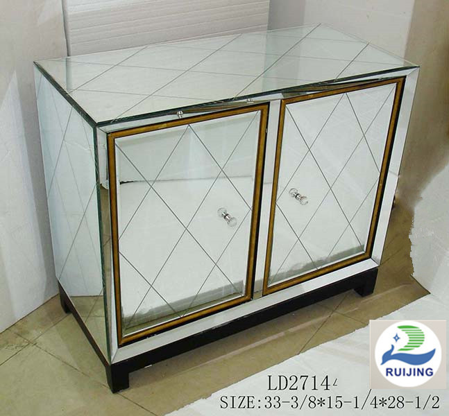 High-end wooden furniture cabinet furniture with mirror