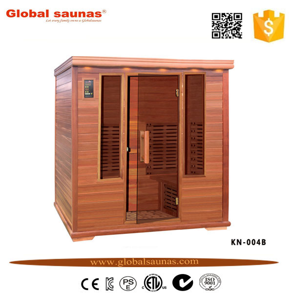portable seks deluxe far infrared sauna room Made in hemlock and red cedar