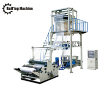 SJ-B lifting head rotating die small extruder PE shrinking film blowing machine