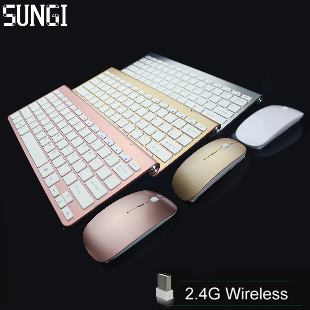 Hot sale portable slim colorful wireless keyboard and mouse combo for PC / smart tv / android tv box