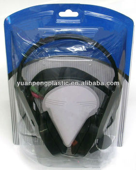 clamshell headphone packaging, plastic container for headphone