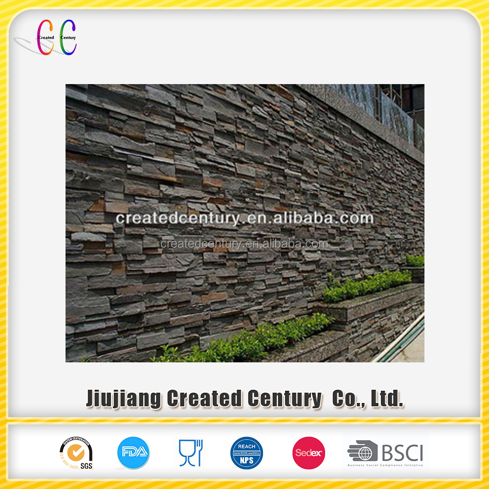 Cheap natural rusty slate veneer stacked ledge culture slate stone