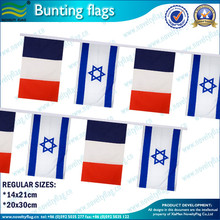 14x21cm or 20x30cm Israel bunting flags (*NF11F06026)