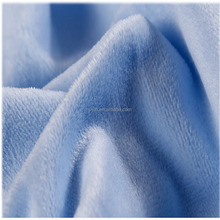 High quality super soft plush cloth polyester velboa fabric fabric for underwear toy