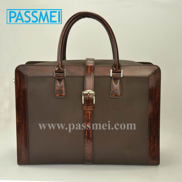 Hot Sale Vintage Style Men's Tote Bag Genuine Leather Handbag Briefcase