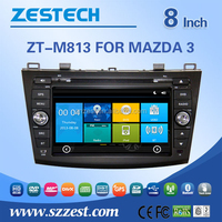 In dash car radio gps for Mazda 3 with rear view camera digital tv