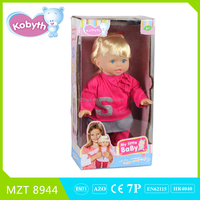 2015 hot item14 inch lovely baby doll with Russian song