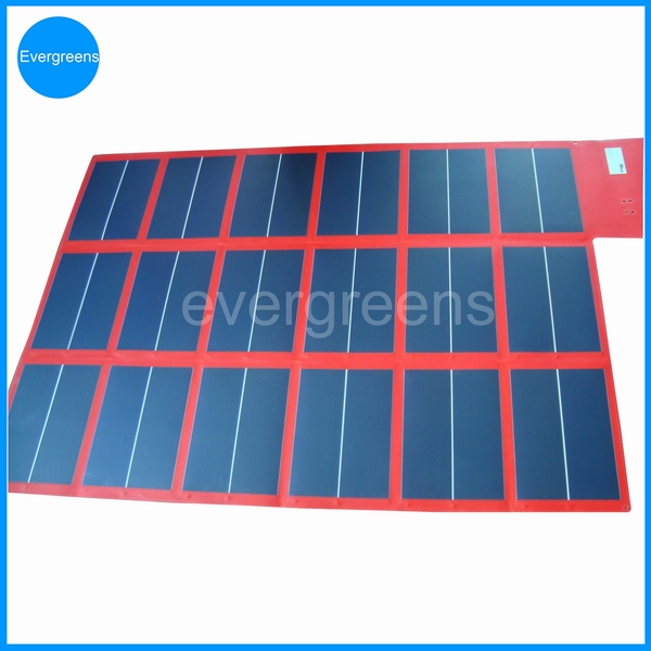 Flexible and folding amorphous solar charger 100kw solar panel price