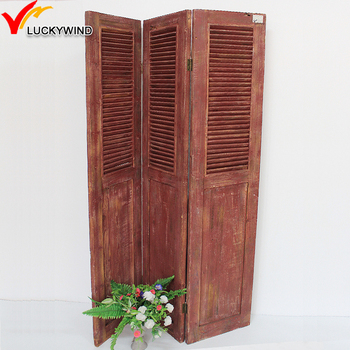 hinged doors folding cottage style living room divider screen