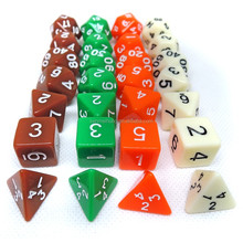 Custom Carved Colorful Acrylic Polyhedral Dice Set In Stock