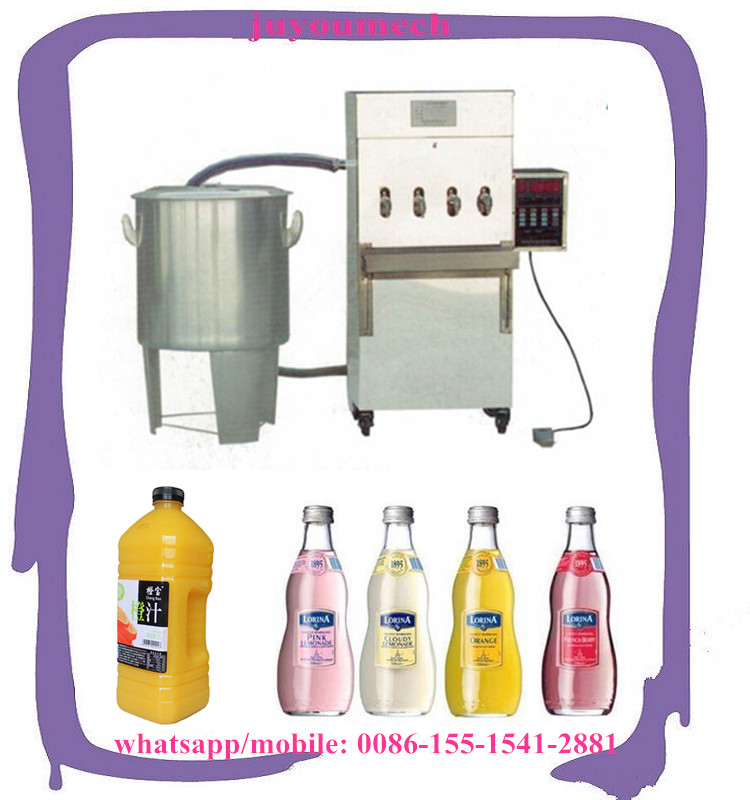 semi automatic small bottle liquid juice soft drink beverage filling machine