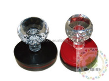 Crystal rubber handle flash plastic stamp