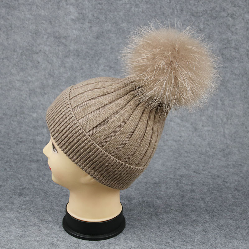 2016 adults rabbit hair blend winter hats ladies fashion fur pompon hats