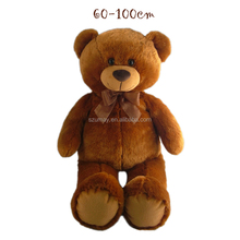 60-100 cm Big big plush toy brown bear soft stuffed animal