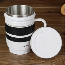 2018 Hot Selling New Coffee Lens Emulation Camera Mug Cup Beer Cups Creative Gift with Handle Travel Thermal Coffee Mugs