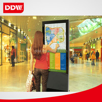 The best ultra-slim design 55inch network 3G or wifi digital advertising screens for sale With Aluminium digital frame