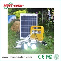 <Must Solar> Solar kit, 10W Portable solar lighting kit sunlight charged DC fan solar electricity generating system