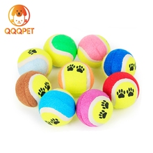 Factory direct supply mixed color no elastic rubber footprint tennis ball dog toy