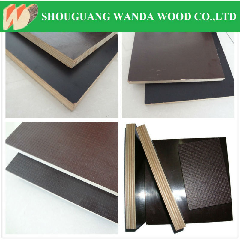 concrete shuttering panel / e2 glue black film face plywood / big size film faced plywood