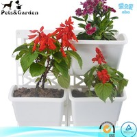 artificial flowers plastic pot home garden growing flower plant